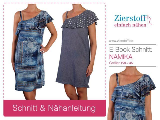 Produktfoto von Zierstoff für Schnittmuster Oneshoulderkleid Namika 158-46