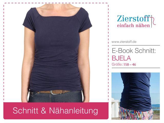 Produktfoto von Zierstoff zum Nähen für Schnittmuster Shirt Bjela 158-46