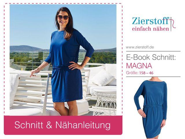 Produktfoto von Zierstoff zum Nähen für Schnittmuster Kleid Magna 158-46