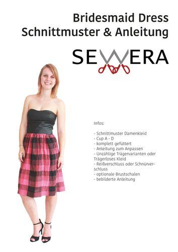 Produktfoto von sewera zum Nähen für Schnittmuster Bridesmaid Dress