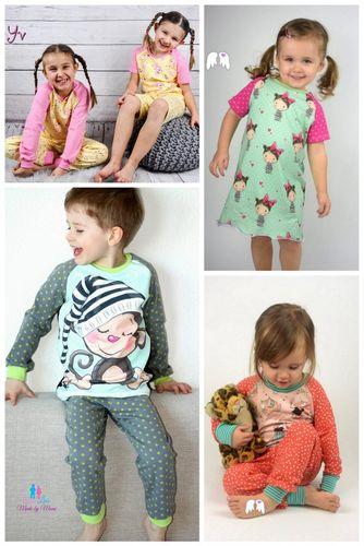 Produktfoto von Engelinchen zum Nähen für Schnittmuster Schlafanzug & Nachthemd Estrella