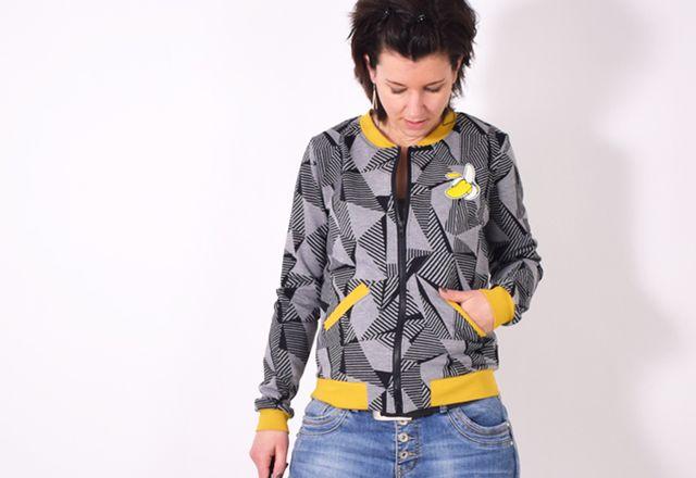 Produktfoto von Leni Pepunkt für Schnittmuster BLOUSON.Jacke