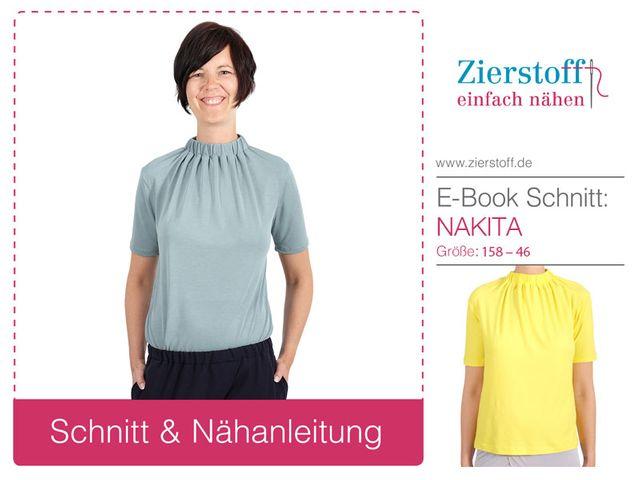 Produktfoto von Zierstoff zum Nähen für Schnittmuster Shirt Nakita 158-46