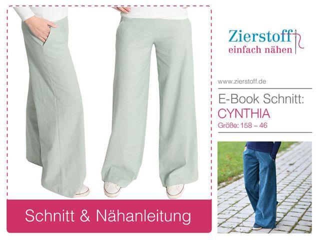 Produktfoto von Zierstoff für Schnittmuster Marlenehose Cynthia 158-46