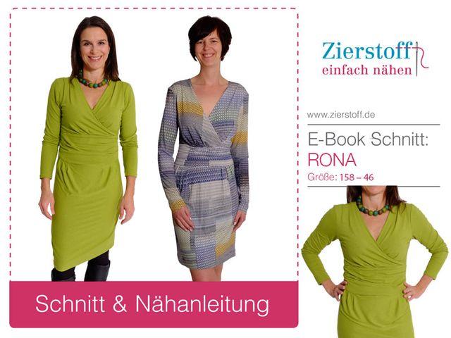 Produktfoto von Zierstoff zum Nähen für Schnittmuster Kleid Rona 158-46