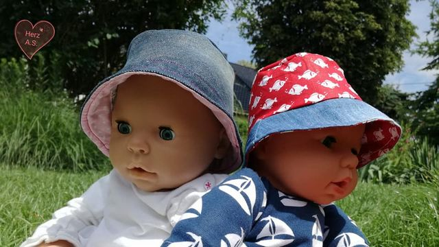 Produktfoto von Bunte Nähigkeiten für Schnittmuster Egon der Anglerhut für Puppen