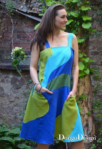 Produktfoto von DongoDesign zum Nähen für Schnittmuster Sommerkleid Japanische Welle