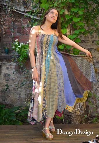 Produktfoto von DongoDesign zum Nähen für Schnittmuster La Cravatta - Seidenkleid aus Krawatten