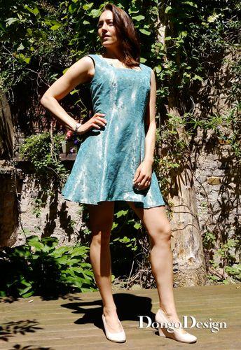 Produktfoto von DongoDesign zum Nähen für Schnittmuster Minikleid Bluelagune