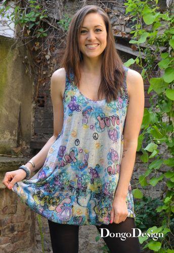 Produktfoto von DongoDesign zum Nähen für Schnittmuster Jerseykleid Sommerbrise