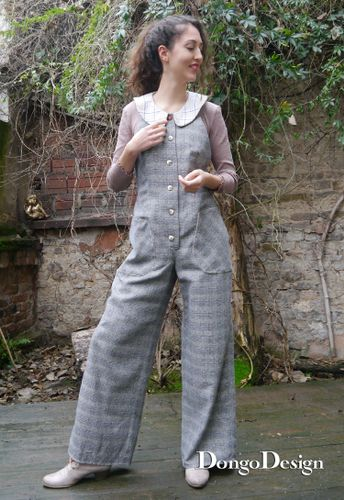 Produktfoto von DongoDesign zum Nähen für Schnittmuster Jumpsuit Sandra