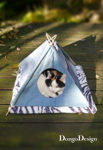 Produktfoto von DongoDesign zum Nähen für Schnittmuster Katzen-/Haustier-Tipi