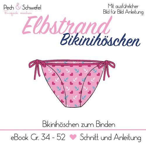 Produktfoto von Pech & Schwefel zum Nähen für Schnittmuster Elbstrand Bikinihöschen zum Binden