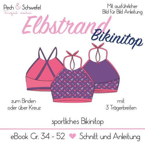 Produktfoto von Pech & Schwefel zum Nähen für Schnittmuster Elbstrand Bikinitop