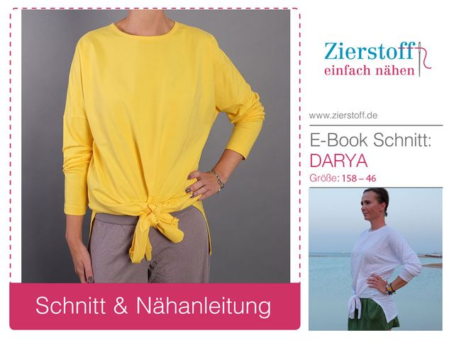 Produktfoto von Zierstoff für Schnittmuster Knotenshirt Darya 158-46