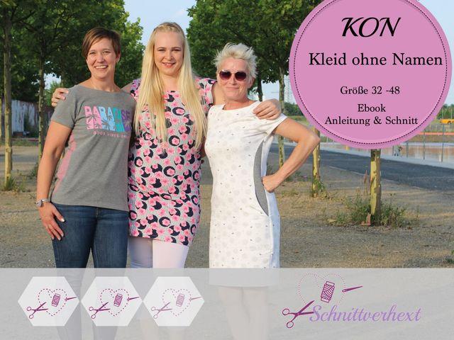 Produktfoto von Schnittverhext zum Nähen für Schnittmuster KON - Kleid ohne Namen