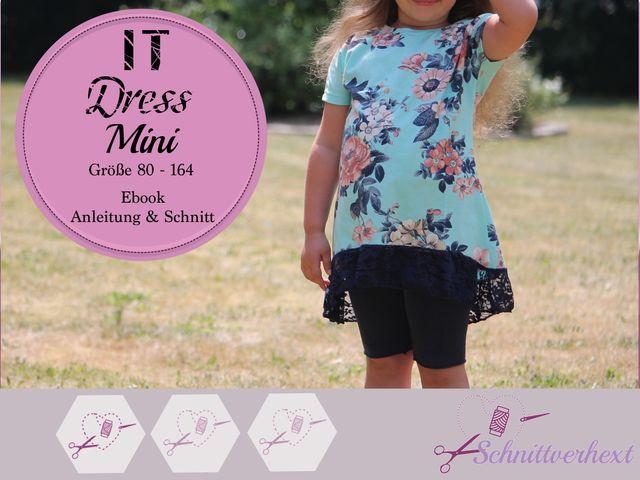 Produktfoto von Schnittverhext zum Nähen für Schnittmuster It Dress Mini