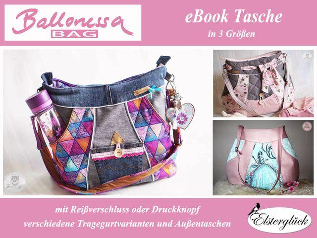 Produktfoto von Elsterglück zum Nähen für Schnittmuster Ballonessa Bag