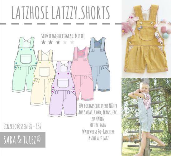 Produktfoto von Sara & Julez zum Nähen für Schnittmuster LATZZY.SHORTS