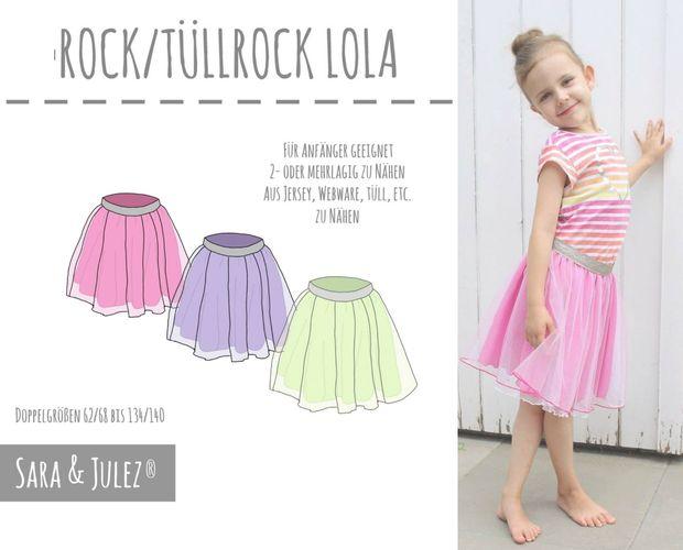 Produktfoto von Sara & Julez zum Nähen für Schnittmuster Rock/Tüllrock Lola