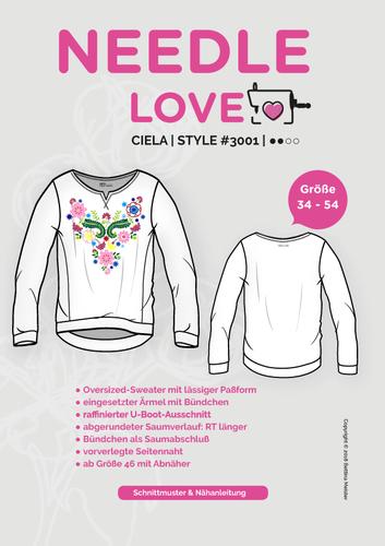 Produktfoto von {NEEDLE LOVE} zum Nähen für Schnittmuster Ciela