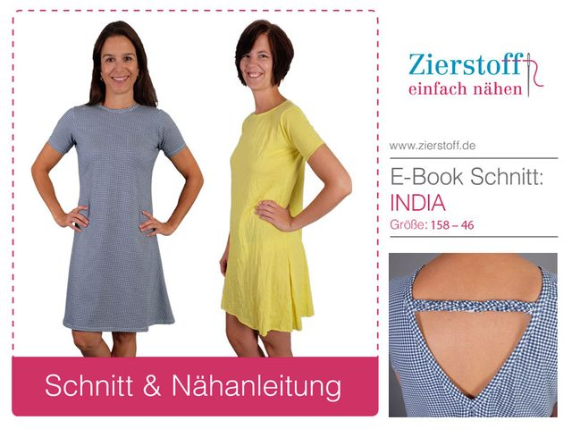 Produktfoto von Zierstoff zum Nähen für Schnittmuster Kleid India 158-46