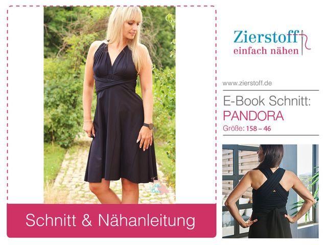 Produktfoto von Zierstoff zum Nähen für Schnittmuster Kleid Pandora 158-46