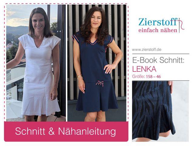 Produktfoto von Zierstoff zum Nähen für Schnittmuster Kleid Lenka 158-46