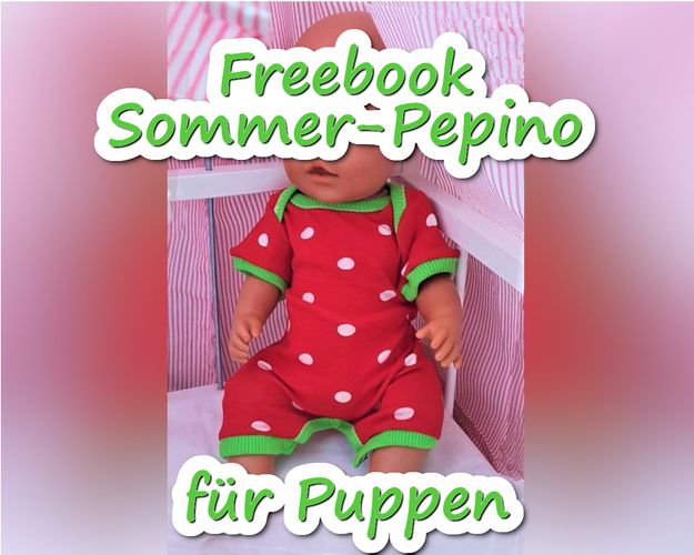 Produktfoto von Bunte Nähigkeiten zum Nähen für Schnittmuster Sommer-Pepino für Puppen
