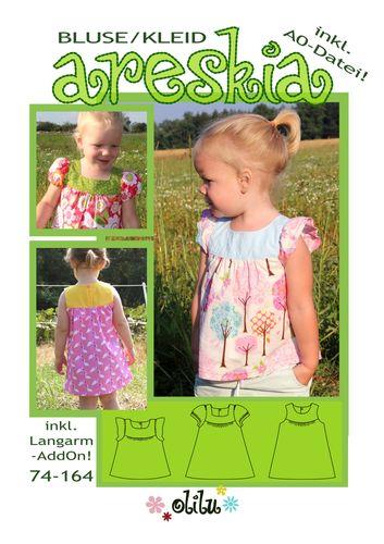 Produktfoto von olilu zum Nähen für Schnittmuster Bluse/Kleid Areskia
