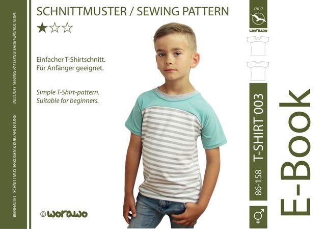 Produktfoto von worawo zum Nähen für Schnittmuster T-Shirt Kinder 003