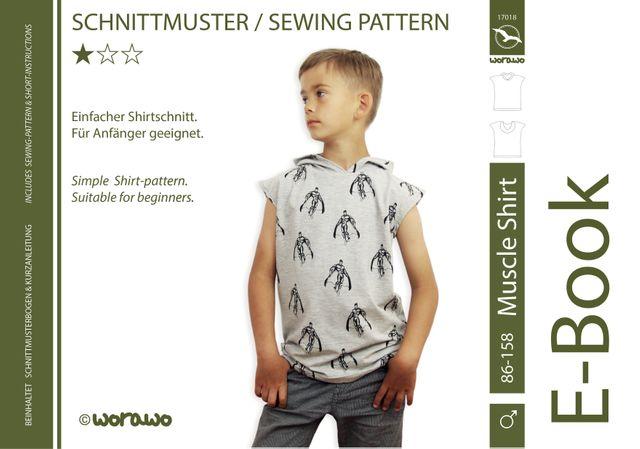 Produktfoto von worawo zum Nähen für Schnittmuster Muscle Shirt Kinder
