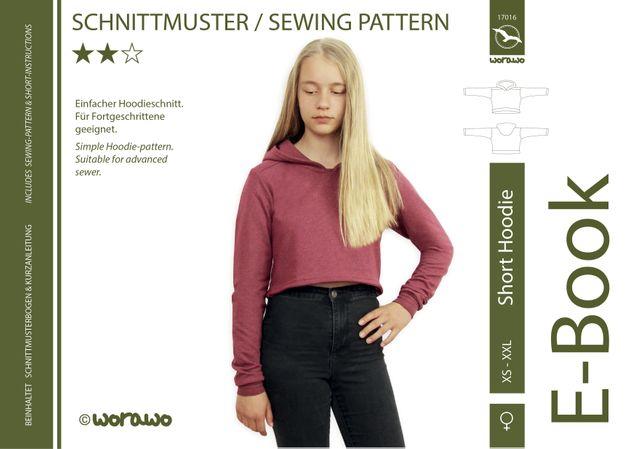 Produktfoto von worawo zum Nähen für Schnittmuster Short Hoodie Damen