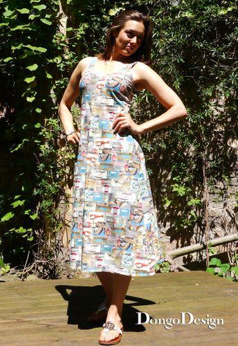 Produktfoto von DongoDesign zum Nähen für Schnittmuster Easy-Jerseykleid Kampen