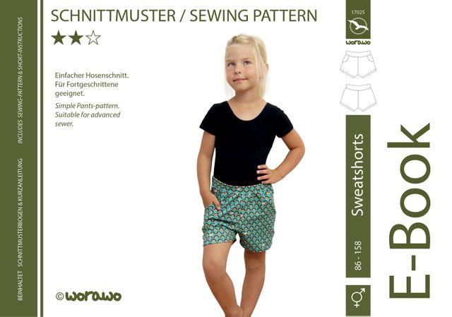 Produktfoto von worawo zum Nähen für Schnittmuster Sweatshorts Kinder