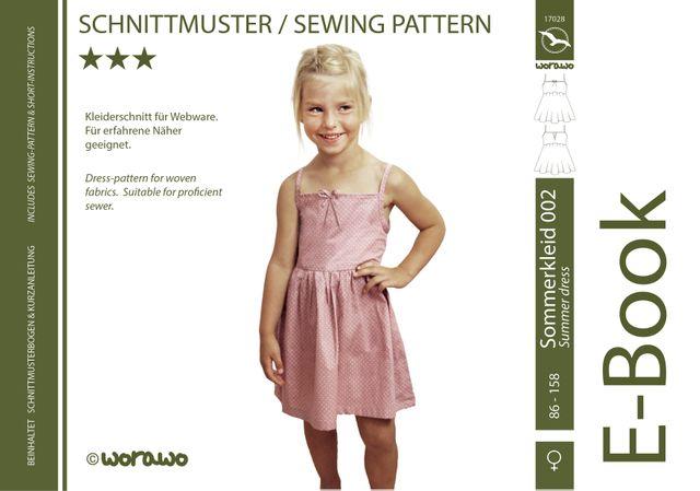 Produktfoto von worawo zum Nähen für Schnittmuster Sommerkleid Kinder 002