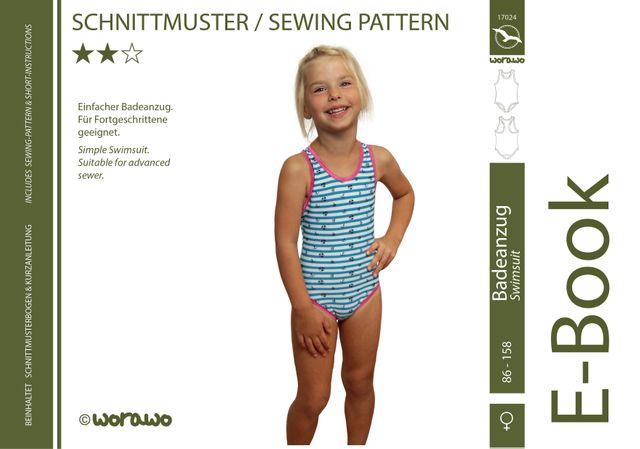 Produktfoto von worawo zum Nähen für Schnittmuster Badeanzug Kinder