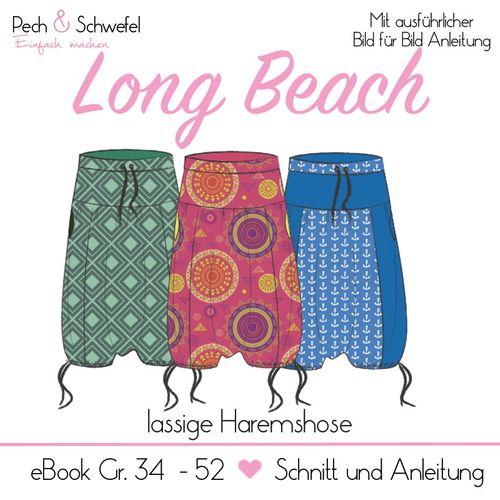 Produktfoto von Pech & Schwefel zum Nähen für Schnittmuster Haremshose Long Beach