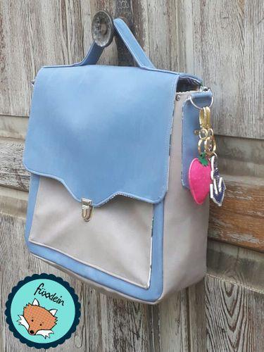 Produktfoto von LaLilly Herzileien zum Nähen für Schnittmuster Vintage Schoolbag Leonabel
