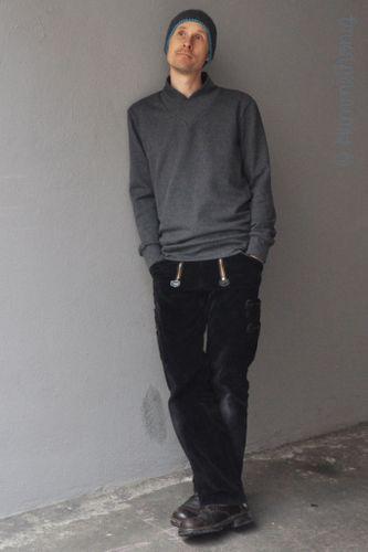 Produktfoto von Hummelhonig zum Nähen für Schnittmuster Herrensweater Isar