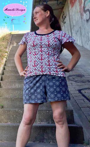 Produktfoto von Mamilu Design zum Nähen für Schnittmuster Hose Summer Chilly Lady