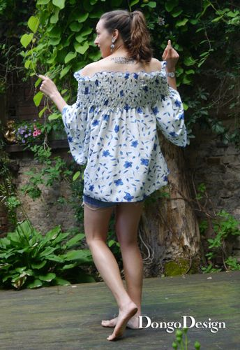 Produktfoto von DongoDesign zum Nähen für Schnittmuster Bluse Lorena