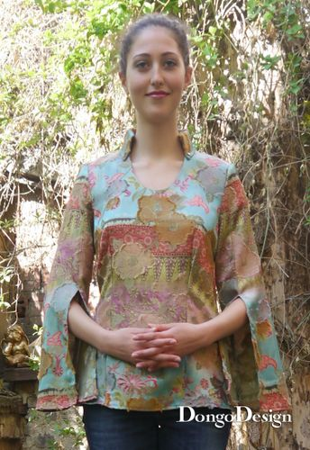 Produktfoto von DongoDesign zum Nähen für Schnittmuster Bluse Alicia