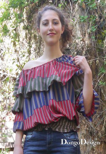 Produktfoto von DongoDesign zum Nähen für Schnittmuster Bluse Alba