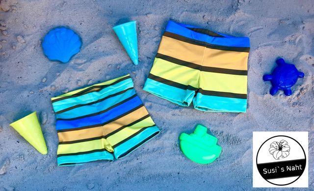 Produktfoto von Engelinchen zum Nähen für Schnittmuster Badehose Sea Horse Pants