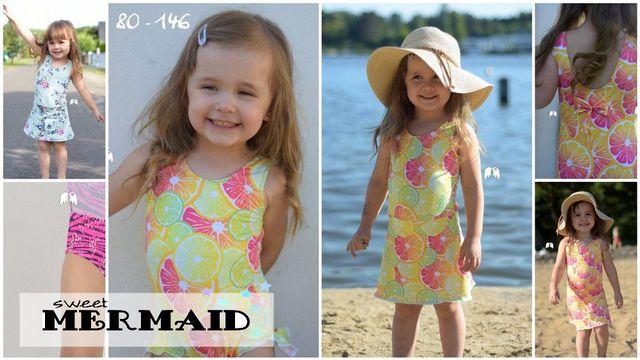 Produktfoto von Engelinchen zum Nähen für Schnittmuster Badeanzug/Badekleid Sweet Mermaid