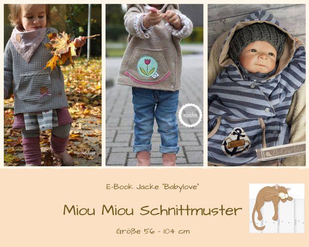 Produktfoto von Miou Miou zum Nähen für Schnittmuster Jacke Babylove