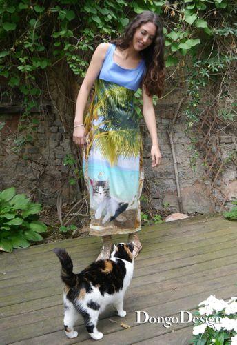 Produktfoto von DongoDesign für Schnittmuster Jerseykleid Stray Cats