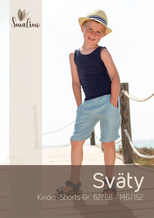 Produktfoto von Smalino zum Nähen für Schnittmuster Kinder-Shorts Sväty