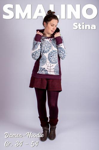 Produktfoto von Smalino zum Nähen für Schnittmuster Damen-Hoodie Stina
